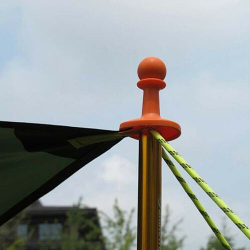 4Pcs Camping Tent Lightning Proof Cap Pole Rod Awning Canopy Protection Cap FB