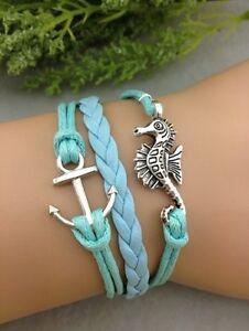 Bracelet-bleu-turquoise-ancre-de-bateau-et-hippocampe-Top-tendance-2014