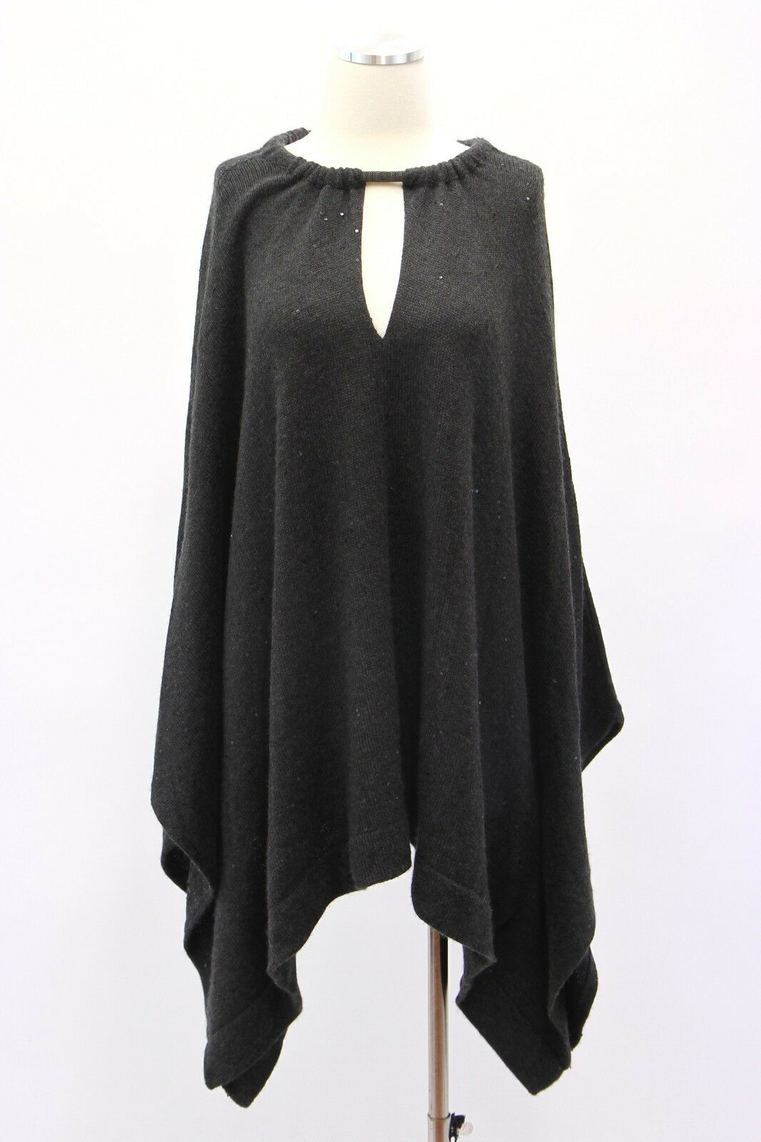 NWT Brunello Cucinelli Cashmere-Silk Monili Beaded Collar Sequin KnitM A181