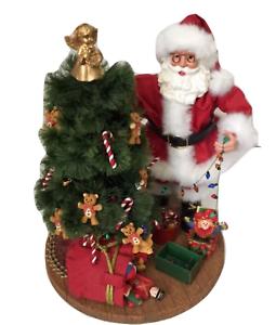 image is loading kirkland signature fabric mache santa trimming christmas tree