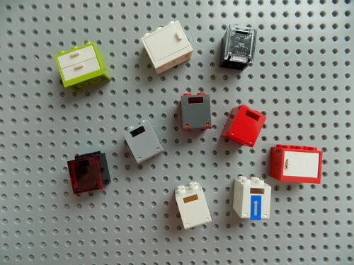 Lego Stockage Armoire Boîte Conteneur avec porte Lot de 10 pour minifigs//véhicules un