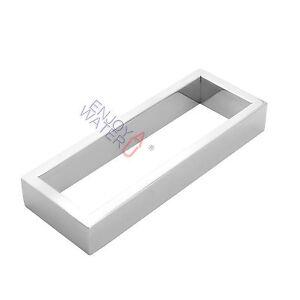 Square-200mm-Hand-Towel-Ring-Hanger-Rack-Rail-Holder-Chrome-Wall-Mount-Bathroom