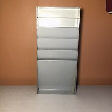Vtg Metal Industrial Curmanco Paper Letter File Wall Organizer 4 Slot 2 Shelf