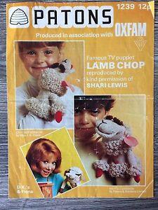 """Patons Knitting & Crochet Pattern: """"Lamb Chop"""", TV Puppet ..."""