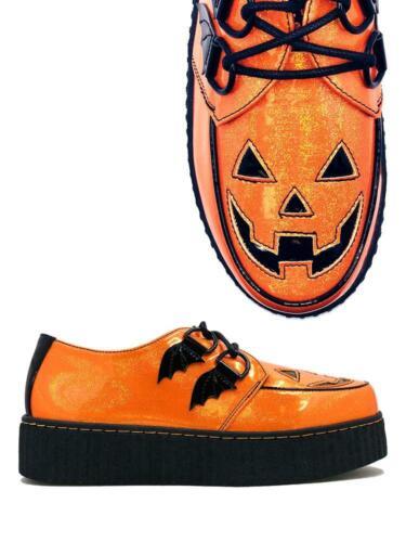 Strange Cvlt Cult YRU Krypt Jack o Lantern Glitter Creepers Platforms Sneakers