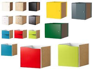 IKEA-KALLAX-etagere-rack-insert-avec-porte-amp-insert-avec-2-tiroirs-Gratuit-Envoi-Neuf
