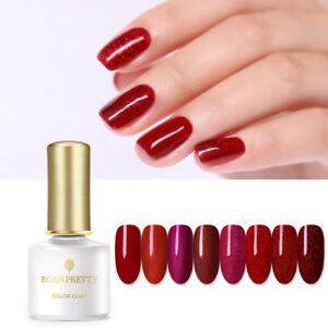 born pretty 6ml red sparkle nail uv gel polish nail art