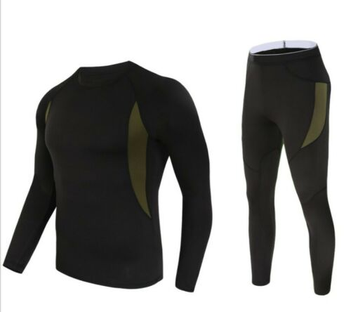 Men Adult Thermal underwear Long Johns Sweater Shirt and Pant Quick Dry