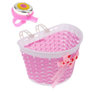 Children-Kids-Girl-Bike-Front-Basket-Bicycle-Shopping-Stabilizer-Bell-Horn