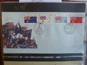 AUSTRALIA-1991-AUSTRALIA-DAY-SET-4-STAMPS-CANBERRA-FDC-FIRST-DAY-COVER
