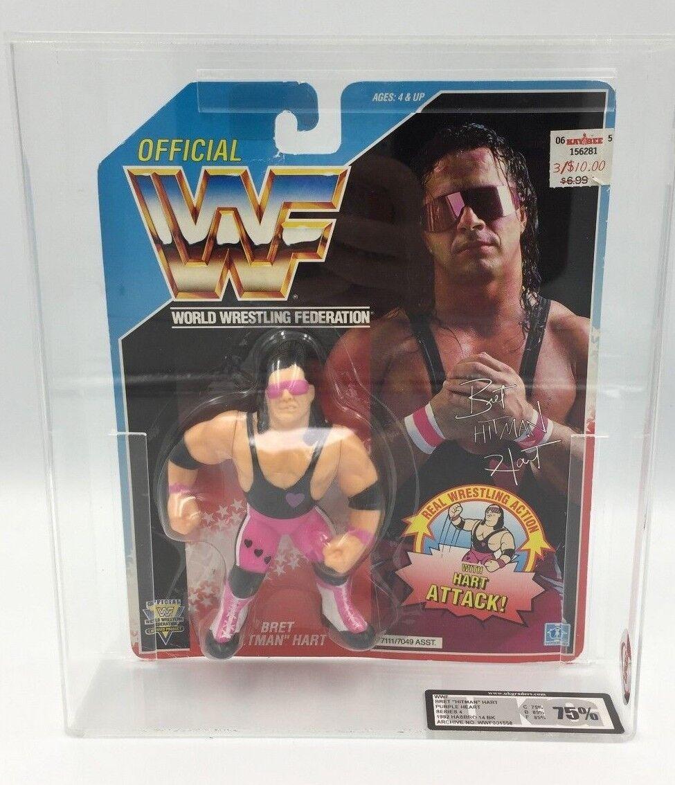 WWF Hasbro BRET HART (lila Heart) Carded Figure-UKG AFA not AFA Figure-UKG graded - RARE fc06dd