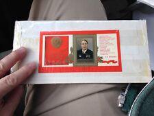 2 Soviet Stamp Commemoratives Brezhnev and Constitutional Lenin Stalin USSR CCCP