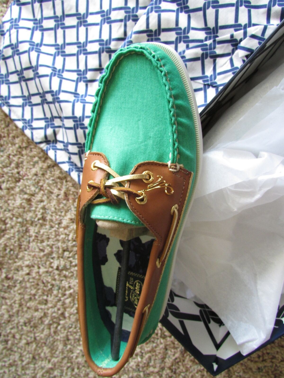 NEW SPERRY TOP-SIDER A O GREEN MILLY CVS BOAT SHOES WOMENS 8.5 FREE SHIP