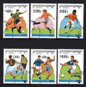 Futbol-Camboya-32-serie-completo-6-sellos-matasellados