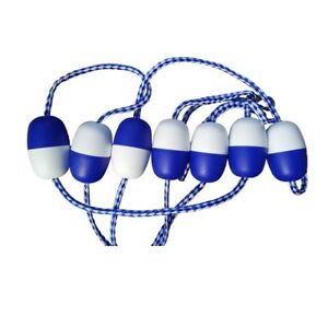 20-039-Swimming-Pool-Safety-Divider-Rope-and-Float-Line-with-2-Stainless-Hooks-New