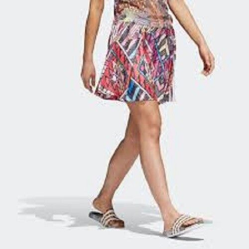 Adidas FARM Skirt Leopard Multi color Geometric Print CW4727 Women's M New