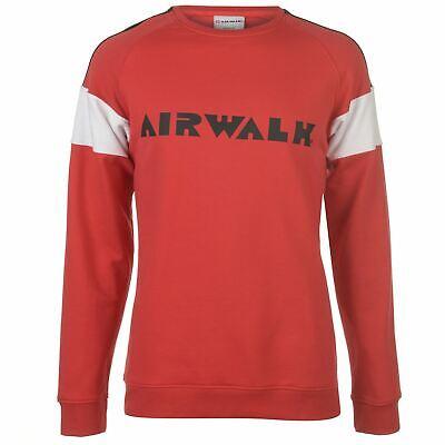 Sensibile Airwalk Da Uomo Felpa Logo Crew Sweater T Shirt Top Maglione Pullover Lungo-mostra Il Titolo Originale Distintivo Per Le Sue Proprietà Tradizionali