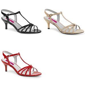 PLEASER-Pink-Label-Kitten-06-Strappy-Dress-Party-Sandal-2-034-Heels-Drag-Women-8-15