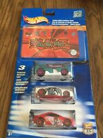 Yu-gi-oh Hot Wheels 3-pack W/collector Guide Mint In Package 2002 Yugioh Series