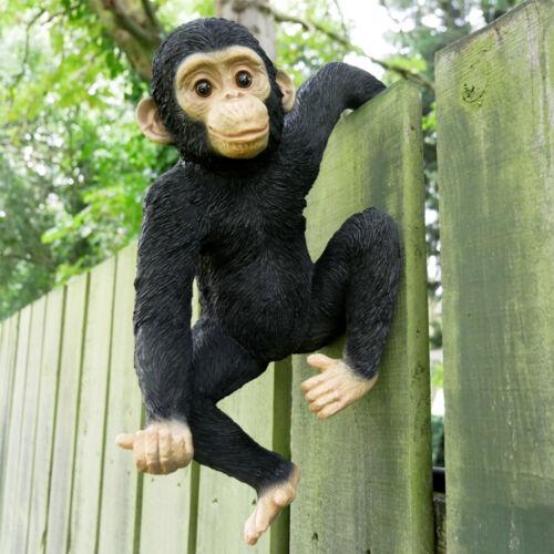 Fence Hanging Monkey Ornament Outdoor Garden Zoo Animal Sculpture Decoration