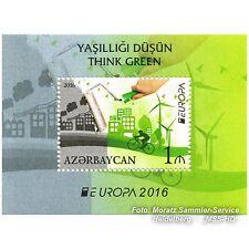 Aserbaidschan Azerbaijan Europa CEPT 2016, Umwelt/Think green, Block postfr. **
