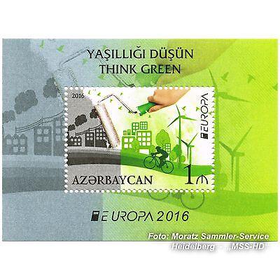 Aserbaidschan Azerbaijan Europa Cept 2016, Umwelt/think Green, Block Postfr. ** Extrem Effizient In Der WäRmeerhaltung