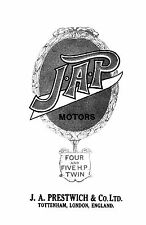 J.A.P. 4 & 5hp engine models instruction & parts book