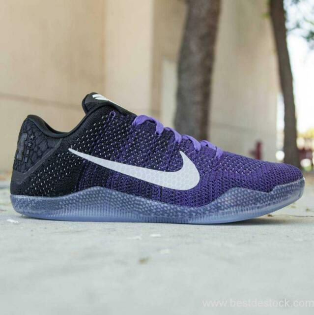online store 62e05 e0813 Mens Nike Air Kobe XI Elite Sneakers New, Eulogy Grape Purple 822675-510 sku