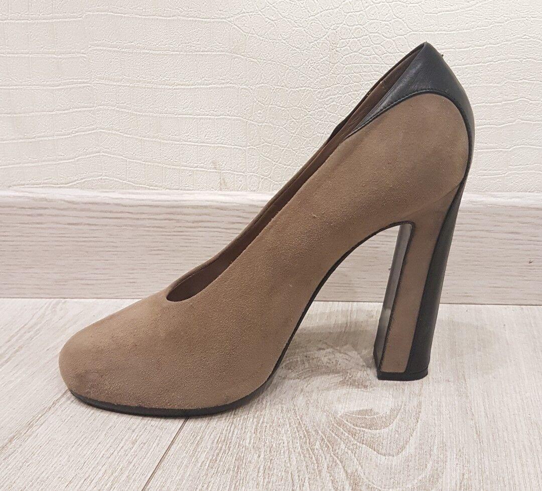 CHAUSSURES ESCAPINS ESCAPINS ESCAPINS HERMÈS DAIM ET CUIR POINTURE 38   HERMÈS chaussures 38   TALON b936a1