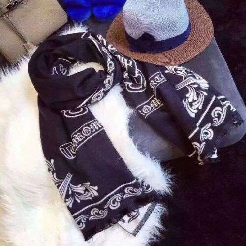Chrome Hearts Style Luxury Cashmere touch stole muffler 100/% wool