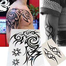 2-Sheet Large Temporary Tattoos Men Tribal Totem Body Tattoo Sticker Fake Tatoo