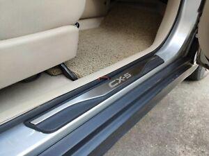 para Mazda Cx 5 Cx5 2013-2016 Bienvenido Patada Pedal Door Sill Desgaste Pegatinas Tiras Proteccion Accesorios BTSDLXX 4Pcs Coche Acero Inoxidable Externo Barra Umbral Puerta