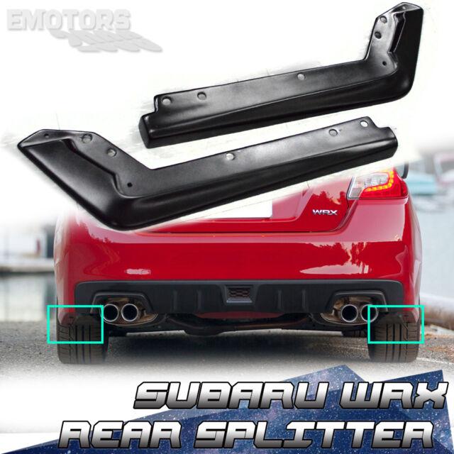 NEW FOR SUBARU WRX SEDAN REAR BUMPER LIP SPLITTERS STI MATT BLACK 15+