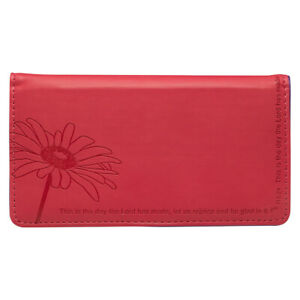 CHECKBOOK-COVER-This-is-The-Day-Pink-Floral-Lux-Leather-FREE-SHIPPING