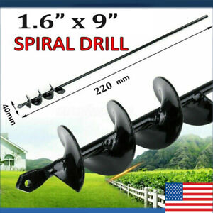 1-6-9-INCH-Planting-Auger-Spiral-Hole-Drill-Bit-For-Garden-Earth-Bulb-Planter-US