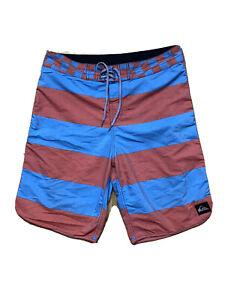 Quiksilver-Mens-Quicksilver-Board-Shorts-W-38-Waist-Tie-Swim-Surf