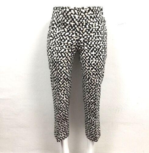 BIMBA Y LOLA Damen Hose Chino Trousers Schwarz Weiß Gefleckt Elegant Kurz NEU