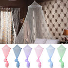 8Colors Lace Bed Mosquito Netting Mesh Canopy Princess Round Dome Bedding Net