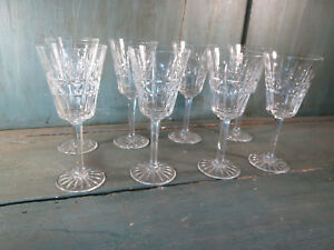 8-vasos-pie-vino-o-agua-antiguo-cristal-vajilla-french-antiguo