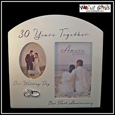 30th ANNIVERSARY 30 Years Together Pearl Photo Frame