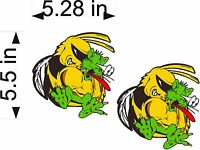 Ski-doo Bee Vs Arctic Cat / Pair Vinyl Decals / 5.5 Vehicle Stickers / Graphics
