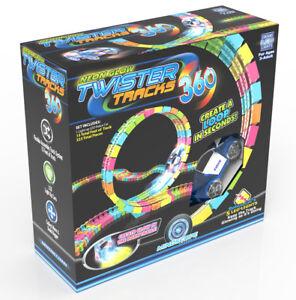 Mindscope Twister Trax 360 15' Glow in the Dark Track Emergency Vehicle Series