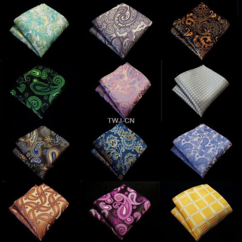 "NEW Man 10/"" Handkerchief  Paisley Floral Pocket Square Wedding Party Hanky"
