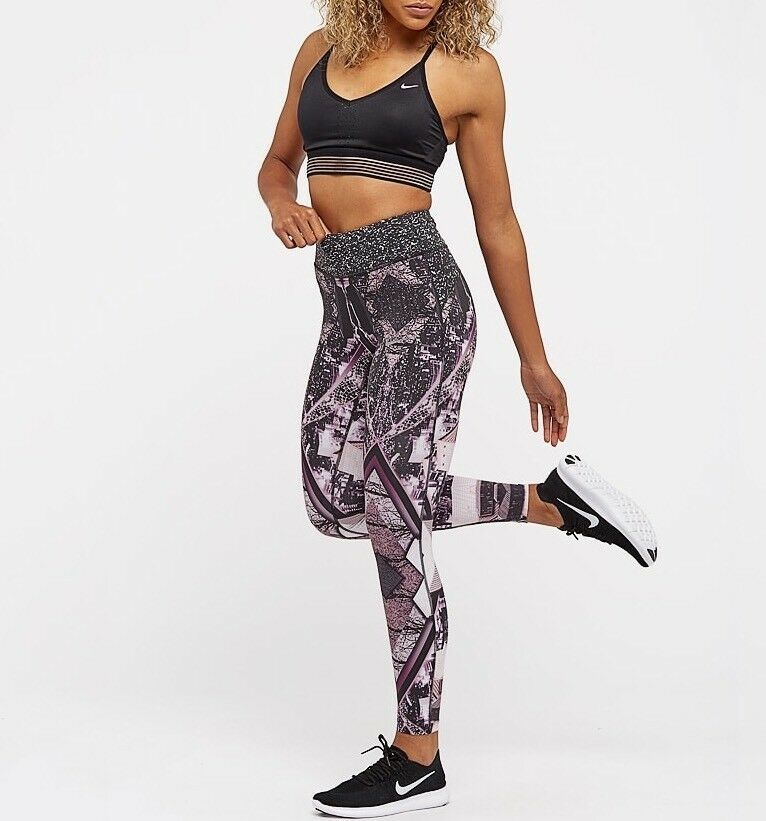 NIKE EPIC LUX 2.0 Wmns Printed 7 8 Running Tights 874745-658 Size XS RRP