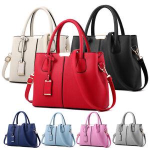 Woman-Leather-Handbag-Shoulder-Cross-Body-Messenger-Bag-Lady-Satchel-Purse-Tote