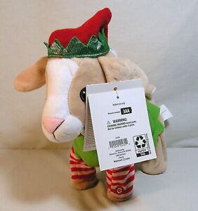 Gemmy-Toys-Christmas-Elf-Animated-Goat-Plush-Sings-Dances-034-Jingle-Bells-034