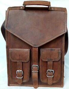 Bag Original Leather Backpack Men Satchel Shoulder School Rucksack Vintage Bag/'