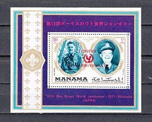 Neil Armstrong & Eisenhower Hohe Belastbarkeit Manama,mi Cat Scout S / Blatt 890,bl170 A