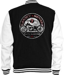 Racer Ace Biker Bobber Jacke Cafe Black Darkness College Sweat CC6nqwO0