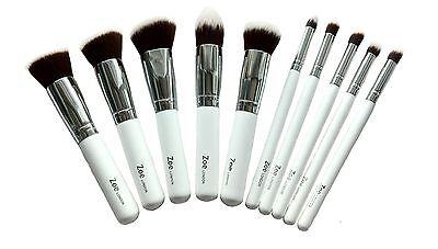 Zoe Foundation Powder Makeup Kabuki Brushes Brush Set Flat Round Angled Tapered